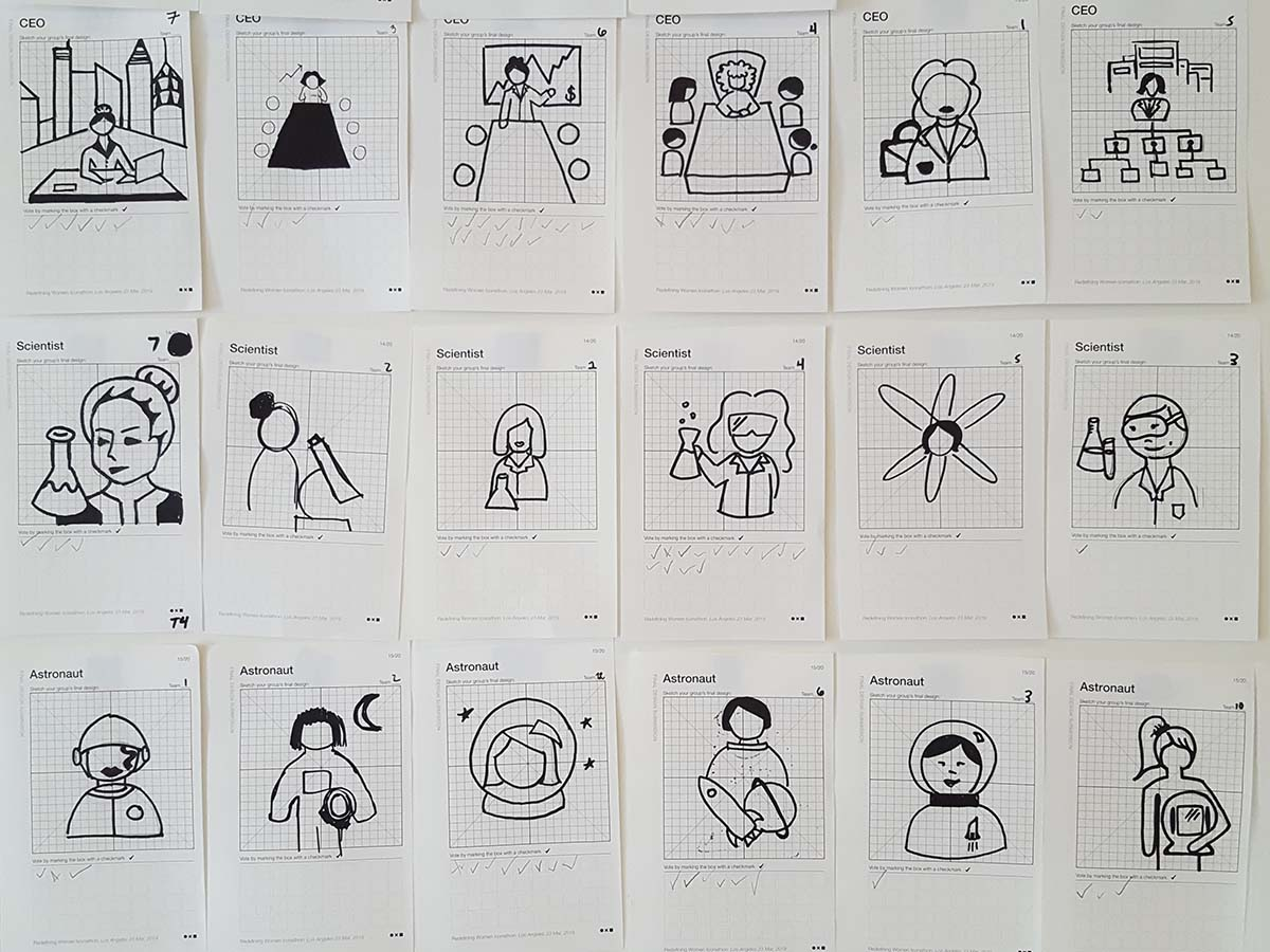 Noun Project's iconathon redefines women and places them in the role of CEO, scientist and astronaut | Lisa Beebe