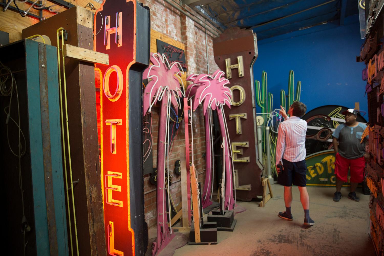 Lisa Schulte's neon studio