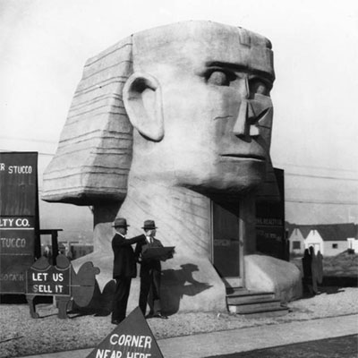 The Sphinx Realty Company was located at 537 N. Fairfax Avenue | Photograph courtesy of Security Pacific National Bank Collection, Los Angeles Public Library