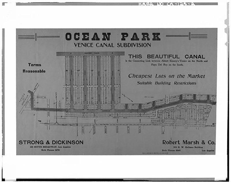 Advertisement for the Ocean Park Venice Canal Subdivision | Library of Congress