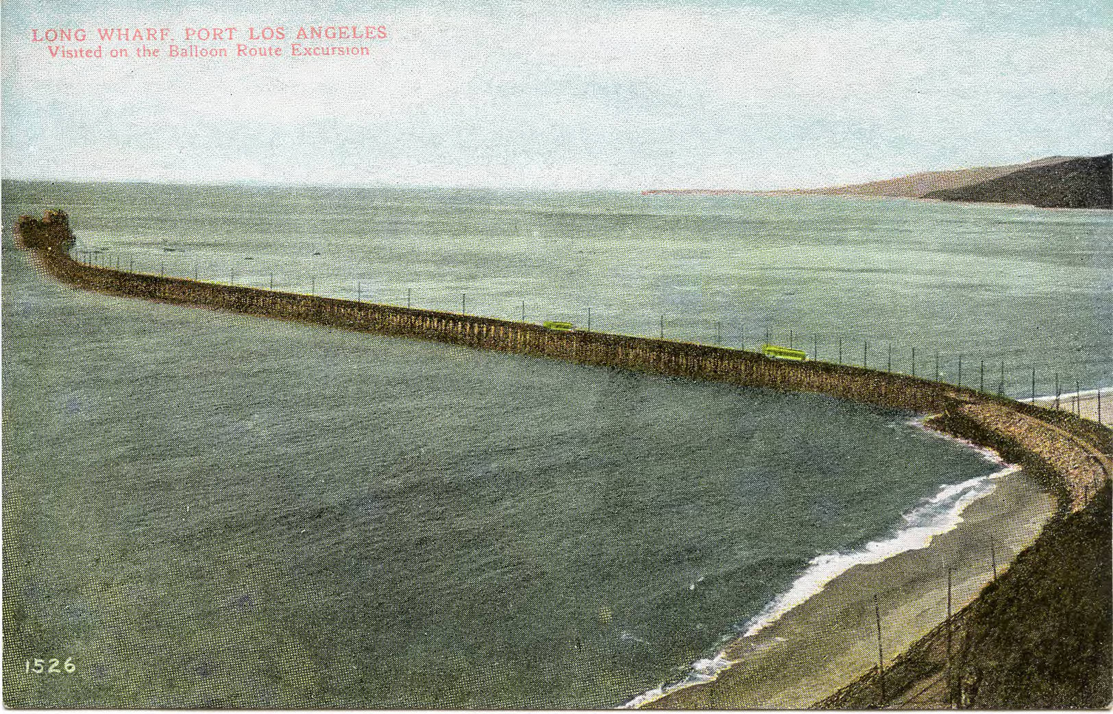 Postcard of Santa Monica's Long Wharf