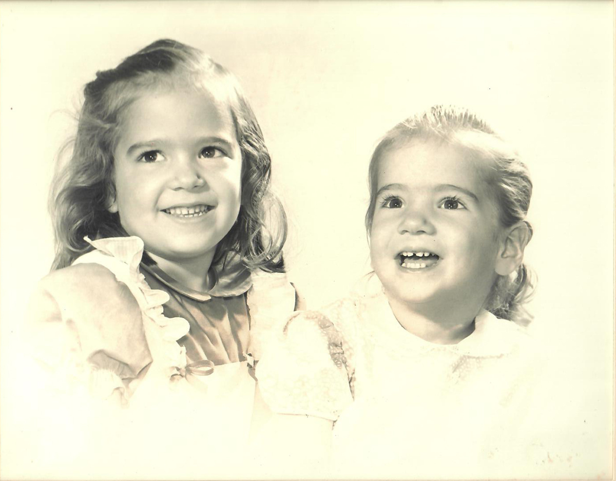 Sharman Apt Russell and her sister, Lorrie in 1956. | Courtesy of Sharman Apt Russell