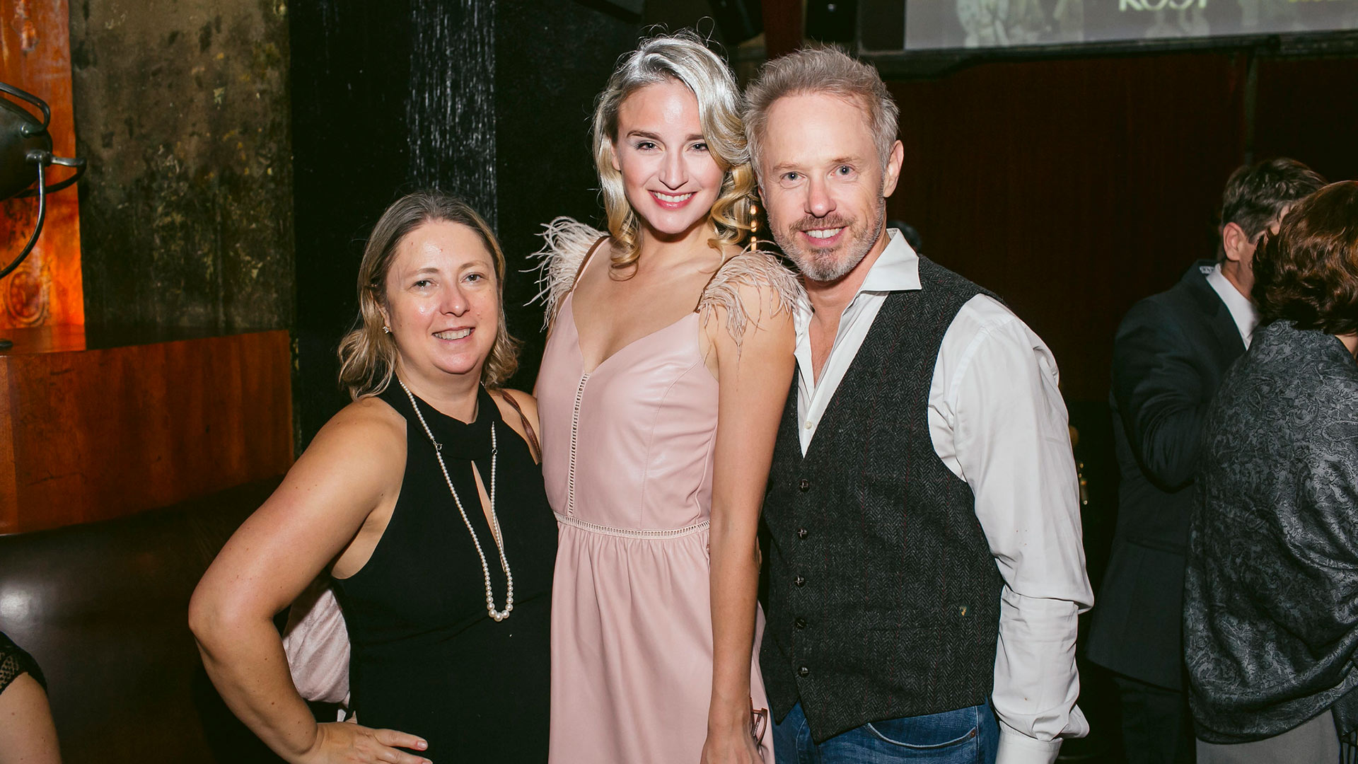 Publicist Zuzana Korda, actress Brianna Barnes and actor Raphael Sbarge attend KCET's LOST LA event at The Edison on October 22, 2019.