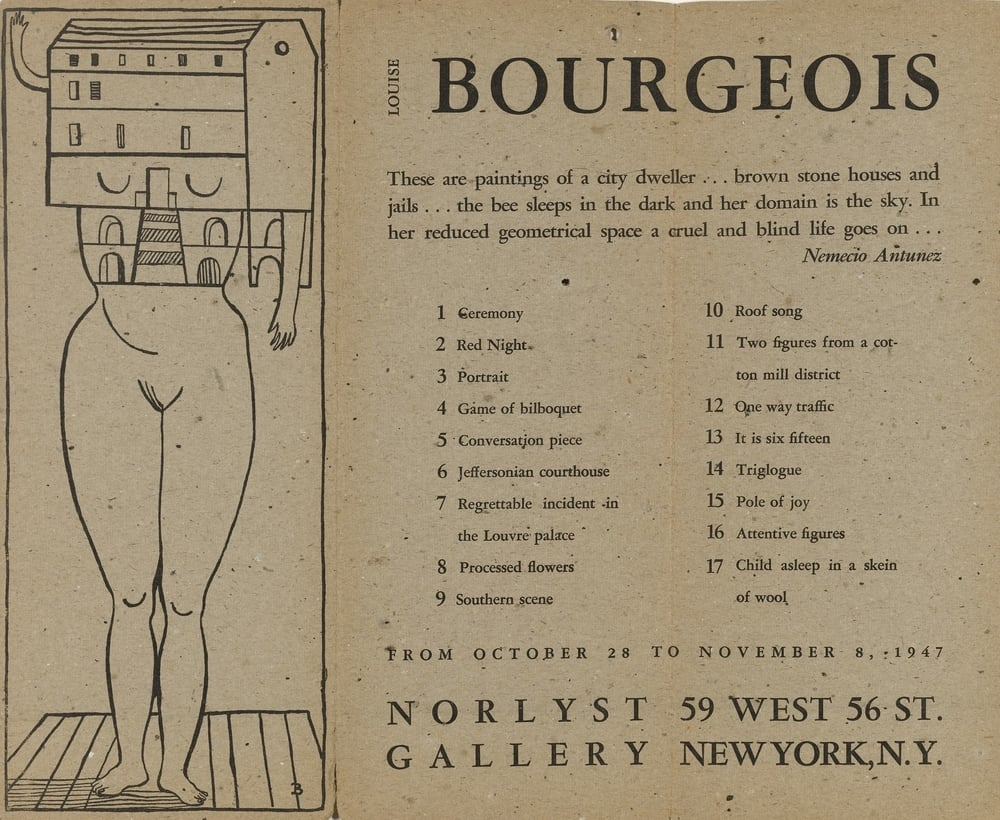 Louise Bourgeois's Femme Maison (Wife House), 1947 | Museum of Modern Art, New York