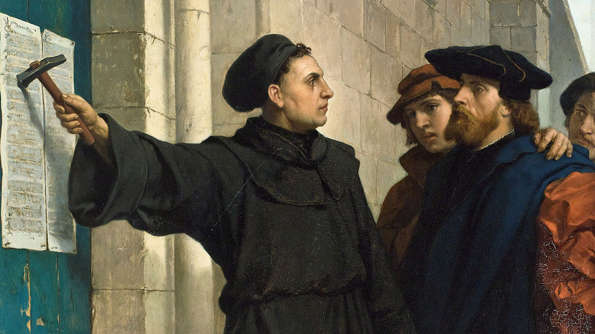 Luther posting his 95 theses | Wikimedia Commons