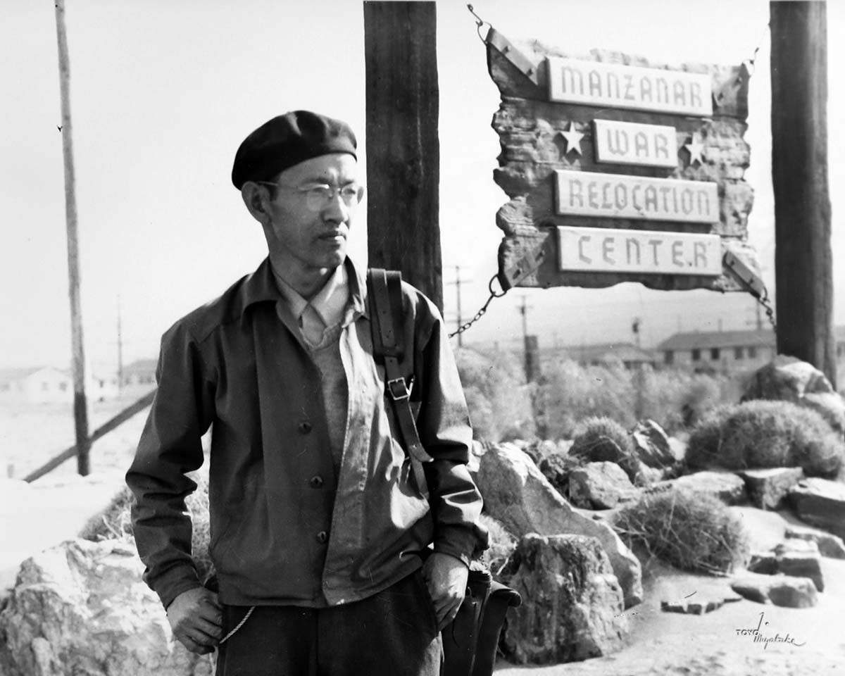 Toyo Miytake at Manzanar | Courtesy of Toyo Miyatake Studio