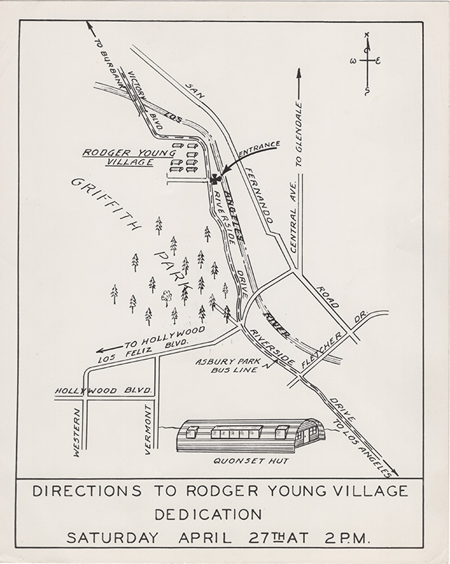 Map to Roger Young Village dedication ceremony | Housing Authority of the City of Los Angeles