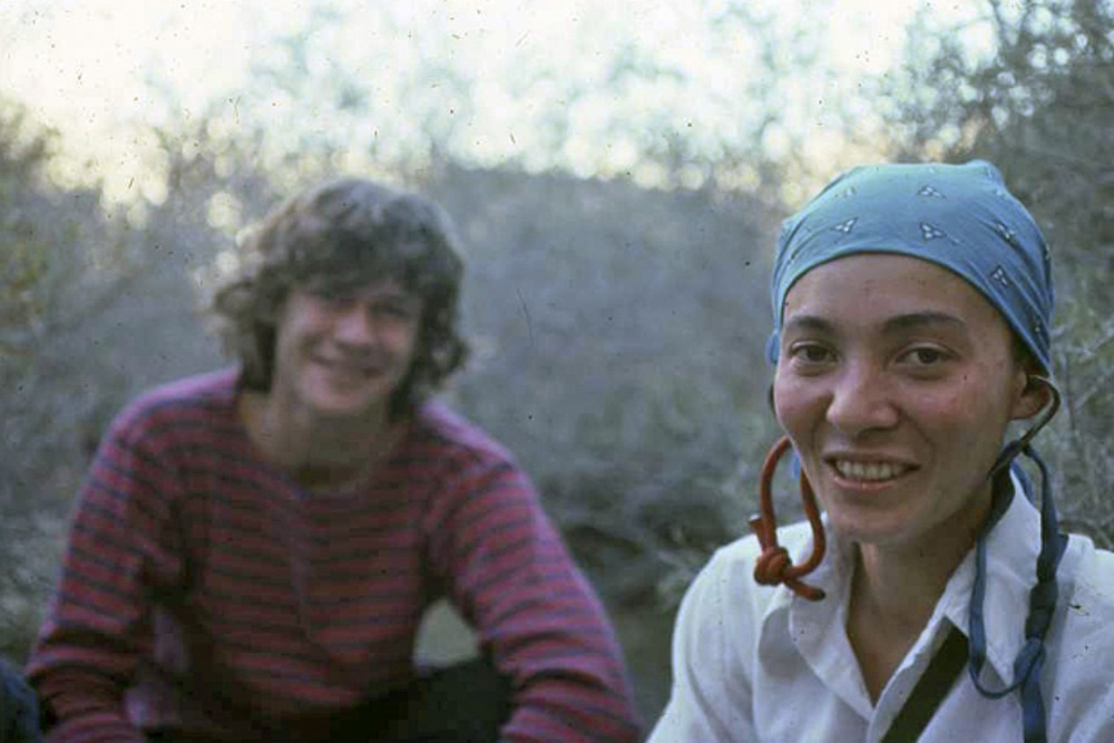 Mari Gingery with her long time partner, Mike Lechlinski—one of the climbing greats of Southern California. | Randy Vogel