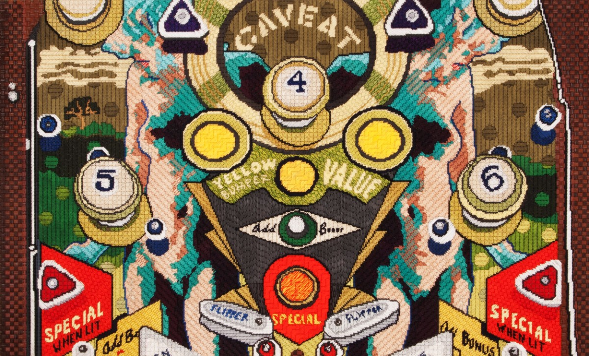 """Maria E. Piñeres' """"Caveat (May He Beware), 2013"""" 