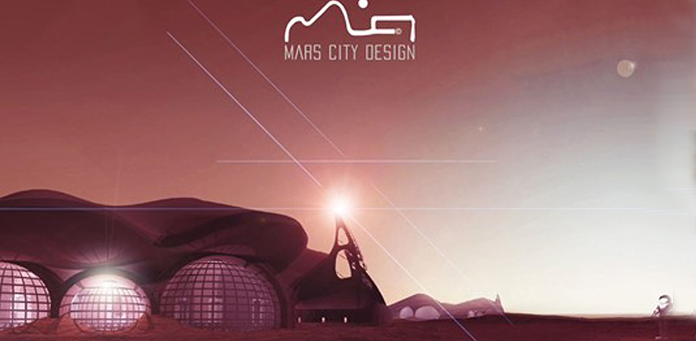 Matt Jennings' project created the architecture for the first permanent structure on Mars.  | Courtesy of Mars City Design