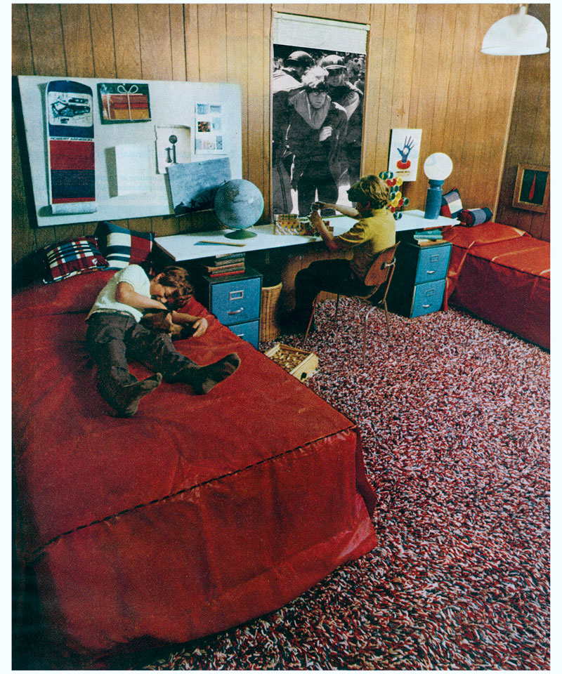 "Martha Rosler, ""Boys' Room,"" c. 1967-72"
