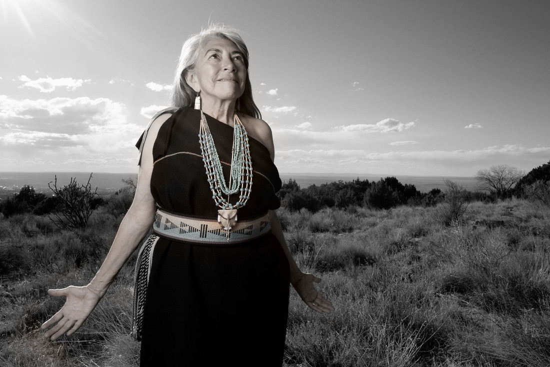 Mary Evelyn Pueblo of Isleta. Photographed by Matika Wilbur for Project 562.