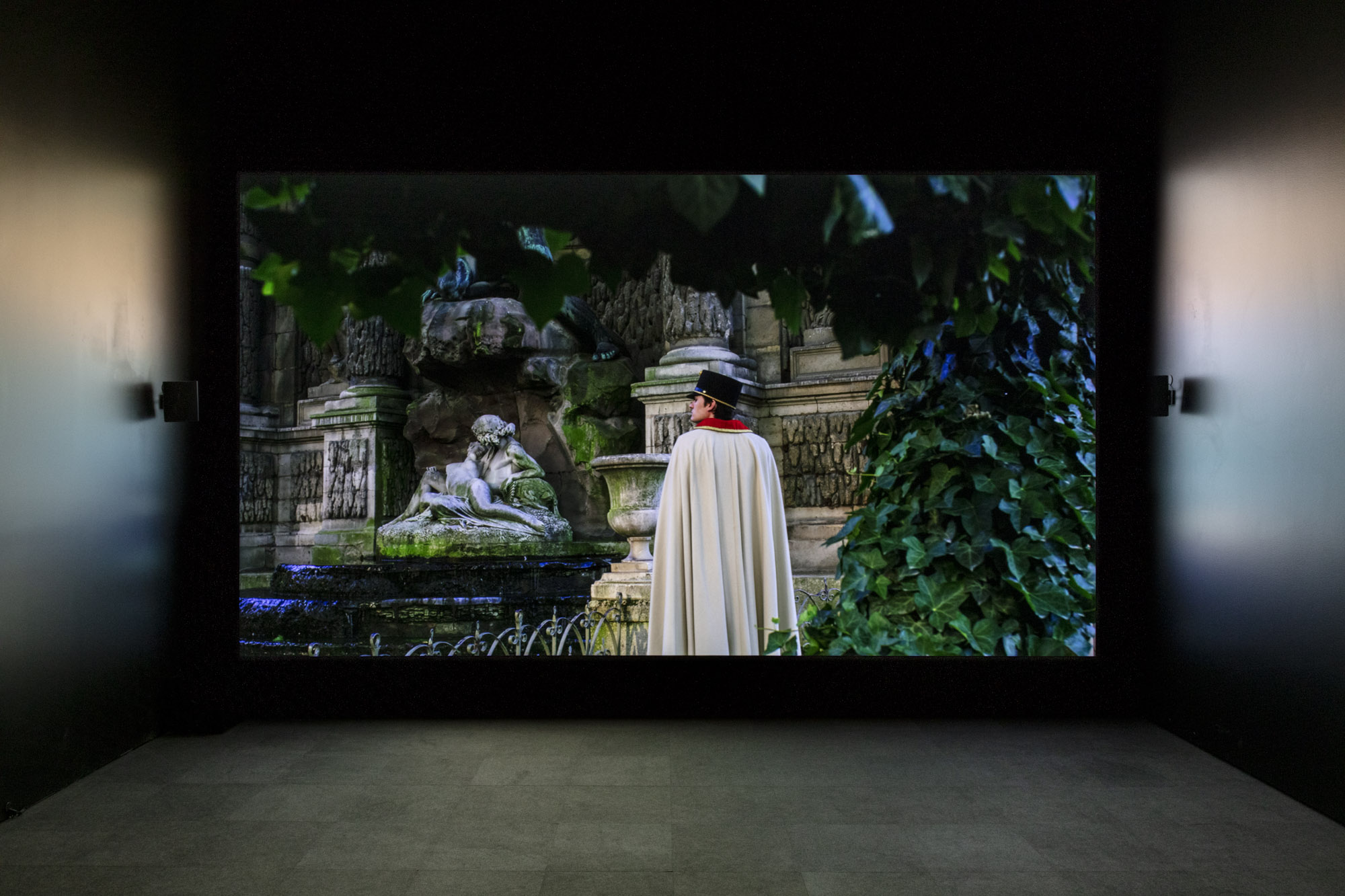 """An installation view of Mathias Poledna's work at """"Made in L.A. 2020: a version."""" at Hammer Museum, Los Angeles. 
