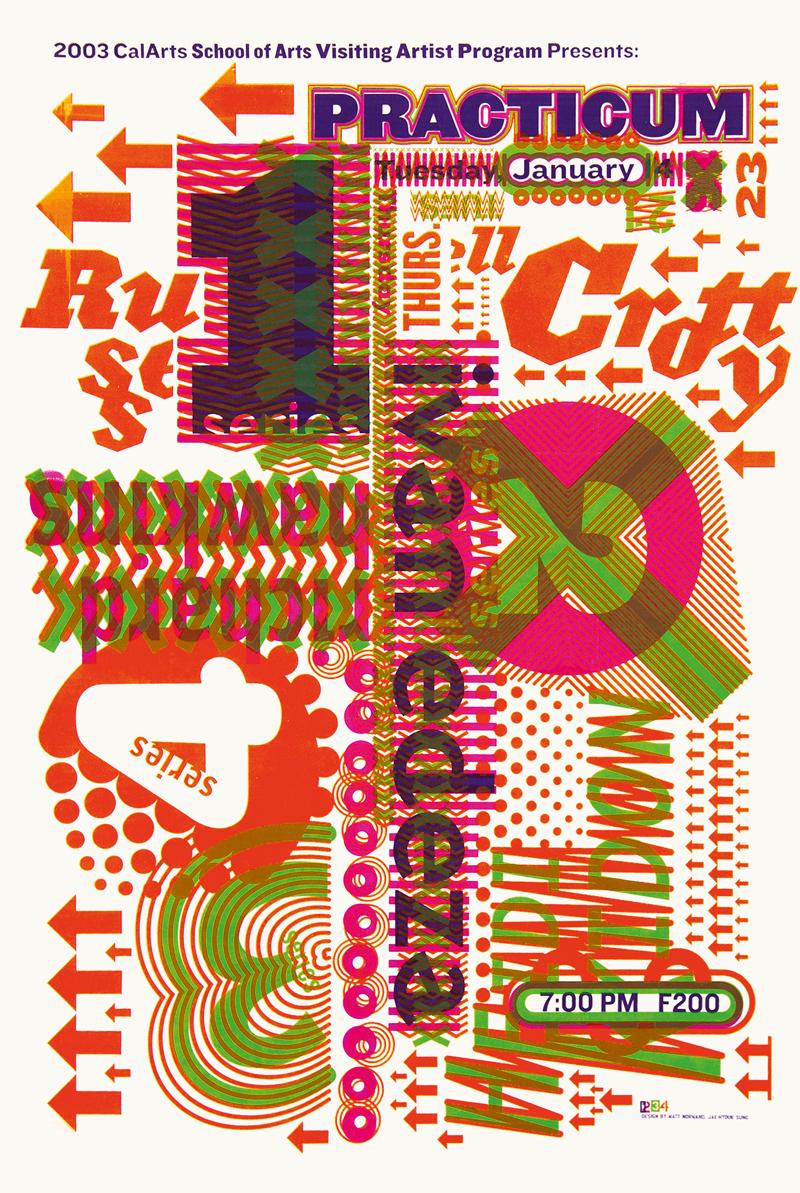 CalArts poster | Matt Normand and Jae Hyouk Sung