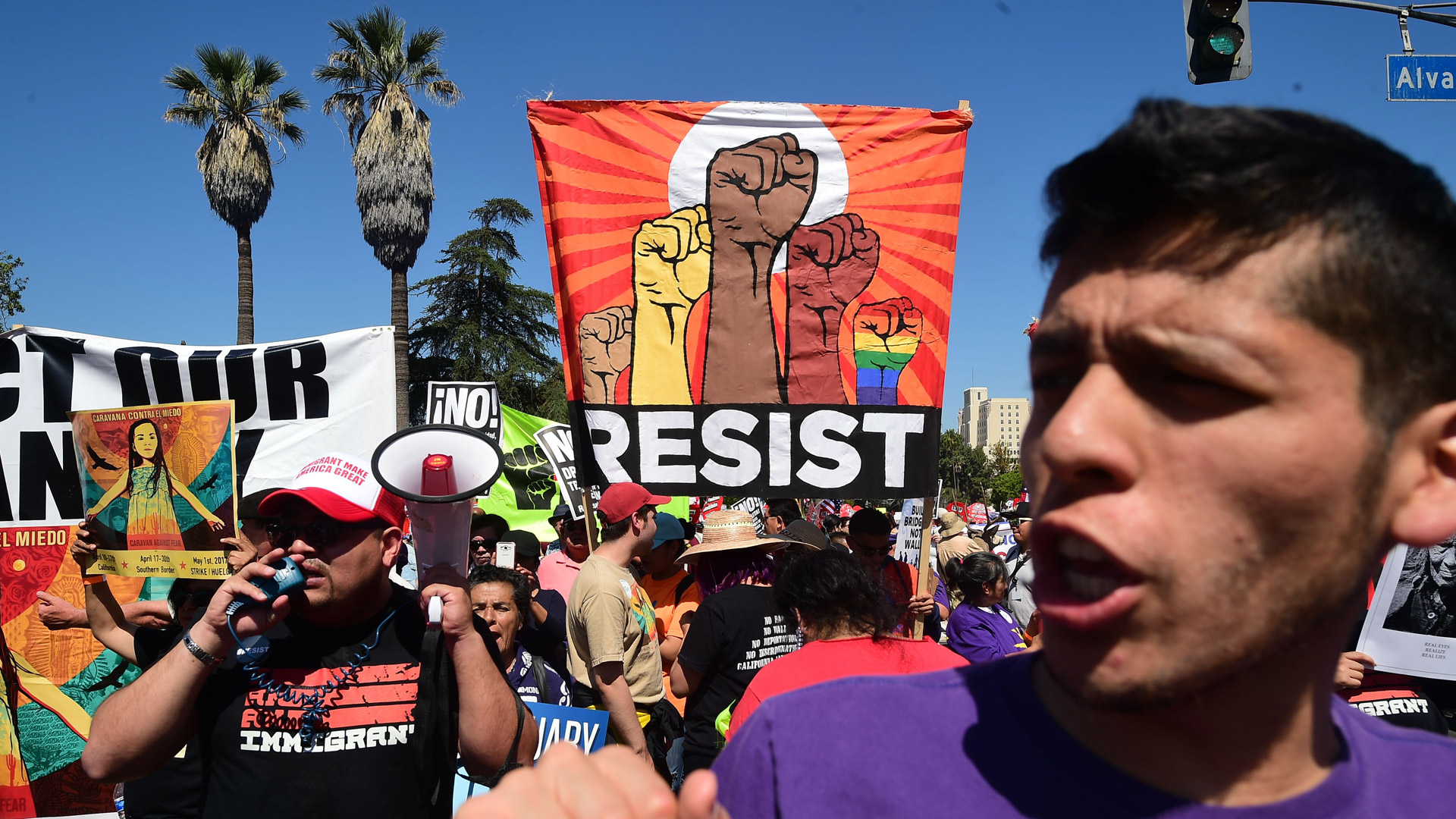 Image result for la protests may 1 2017