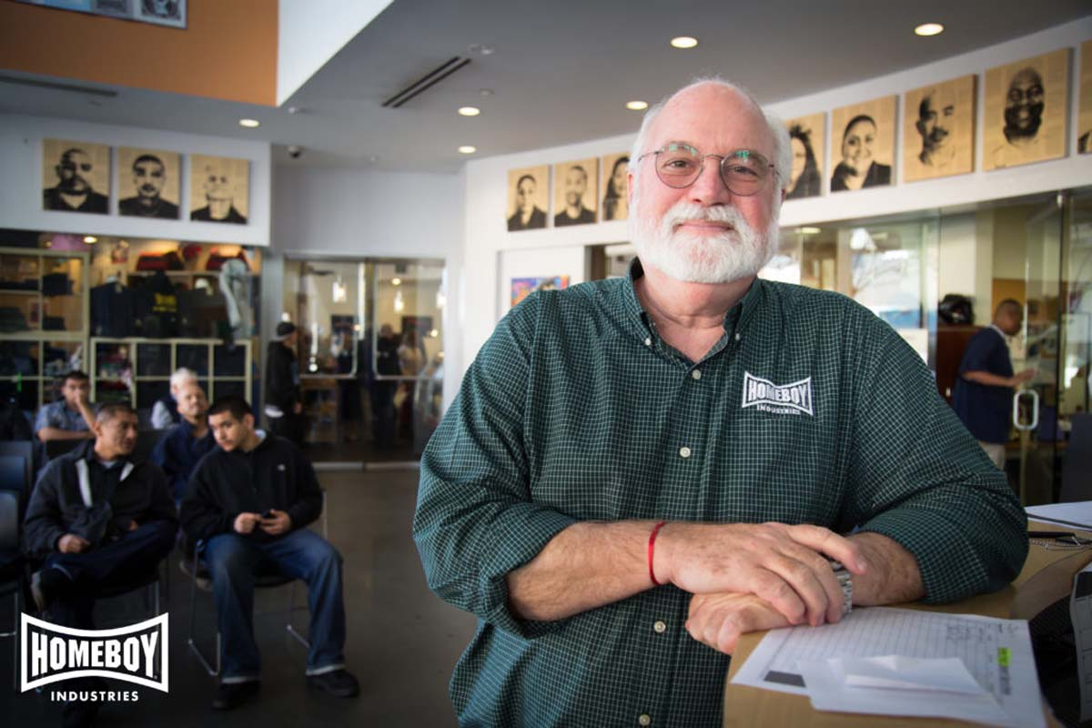 Father Greg Boyle of Homeboy Industries. |Courtesy of Homeboy Industries