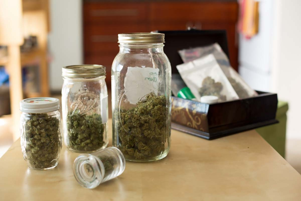 A medical cannabis patient's supply of medicine in their home | Sonya Yruel/Drug Policy Alliance