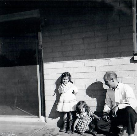 Mel with daughters Lorrie and Sharman in 1956. | Courtesy of Sharman Apt Russell