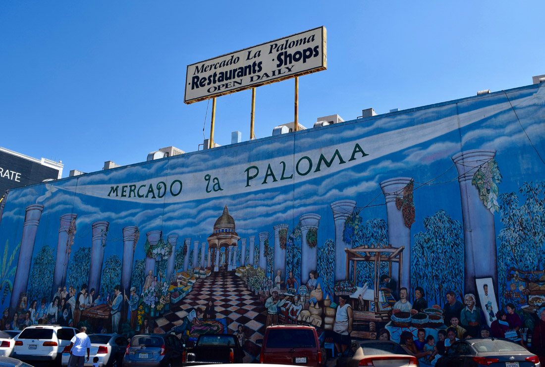 Exterior of Mercado La Paloma