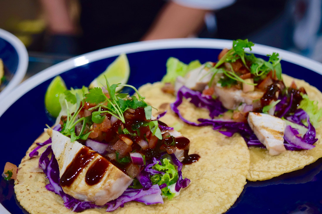 Fish tacos at Holbox