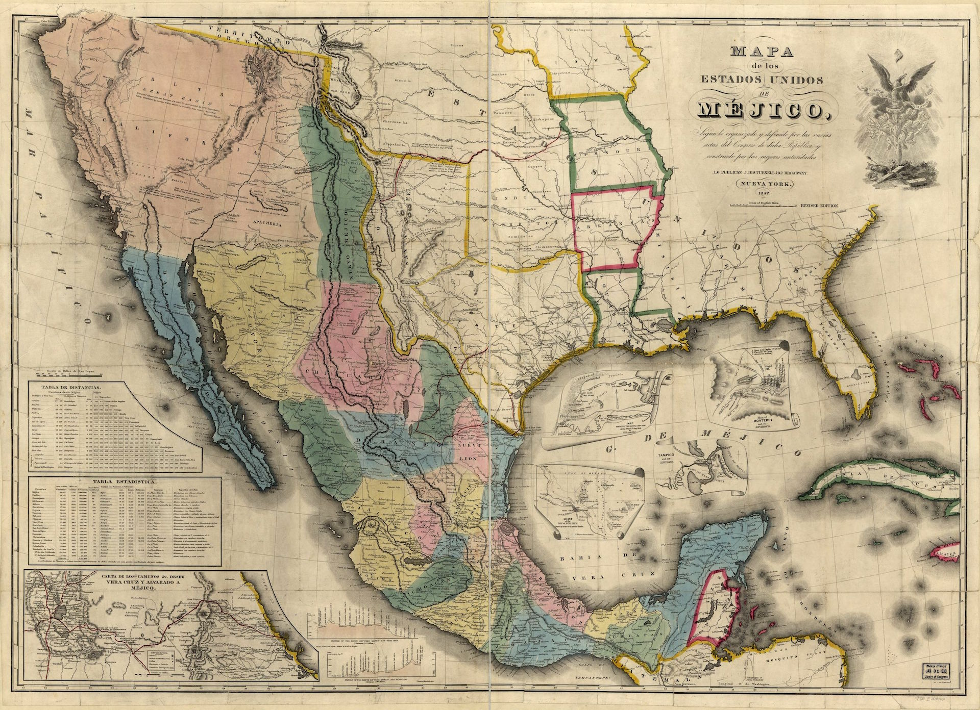 1847 map of Mexico