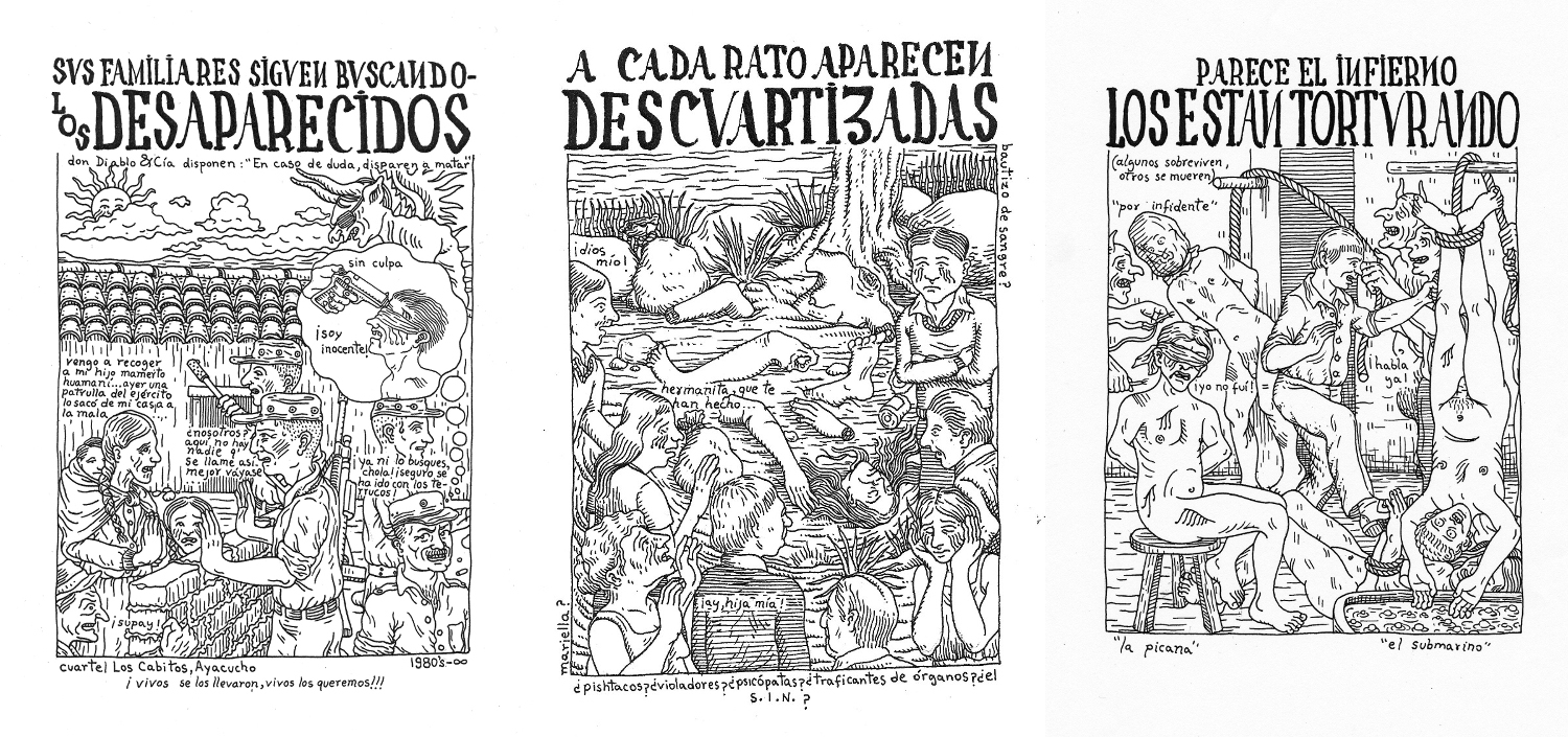"Miguel Det, ""Excerpts from Novísima crónica del mal gobierno / Newest Chronicle of Bad Government,"" 2015."