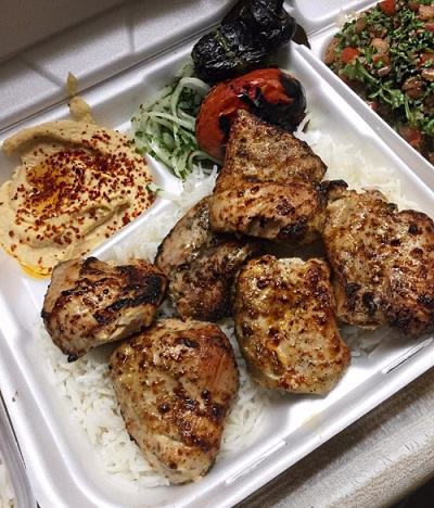 Kabob plate from Mini Kabob