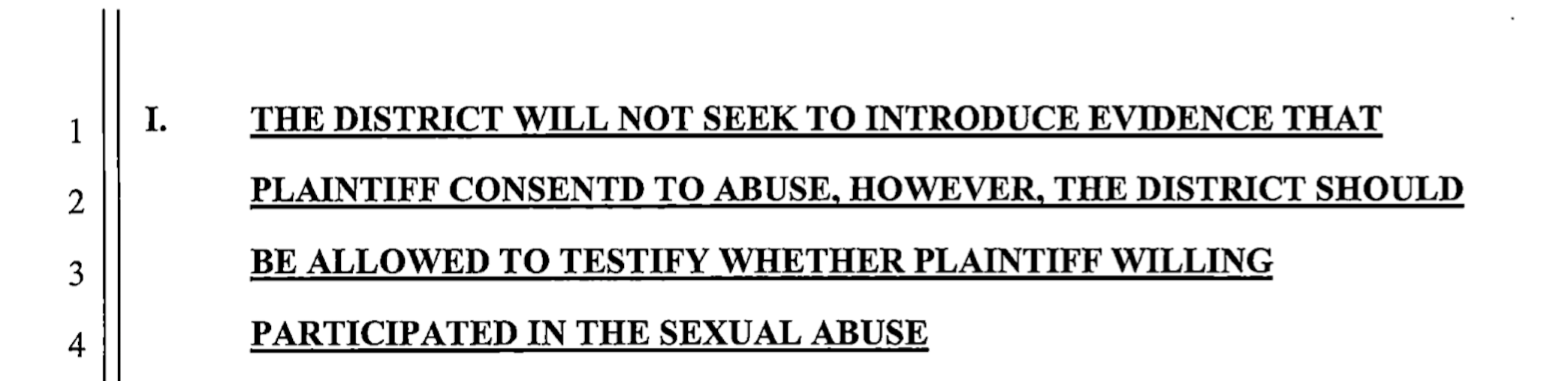 Sexual Misconduct Court Documents