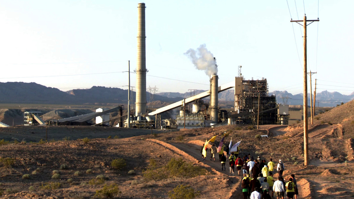 Moapa Reservation Protest (Courtesy of KCET)