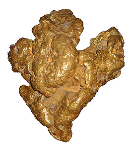 The Mojave Nugget discovered by Ty Paulson in 1977.