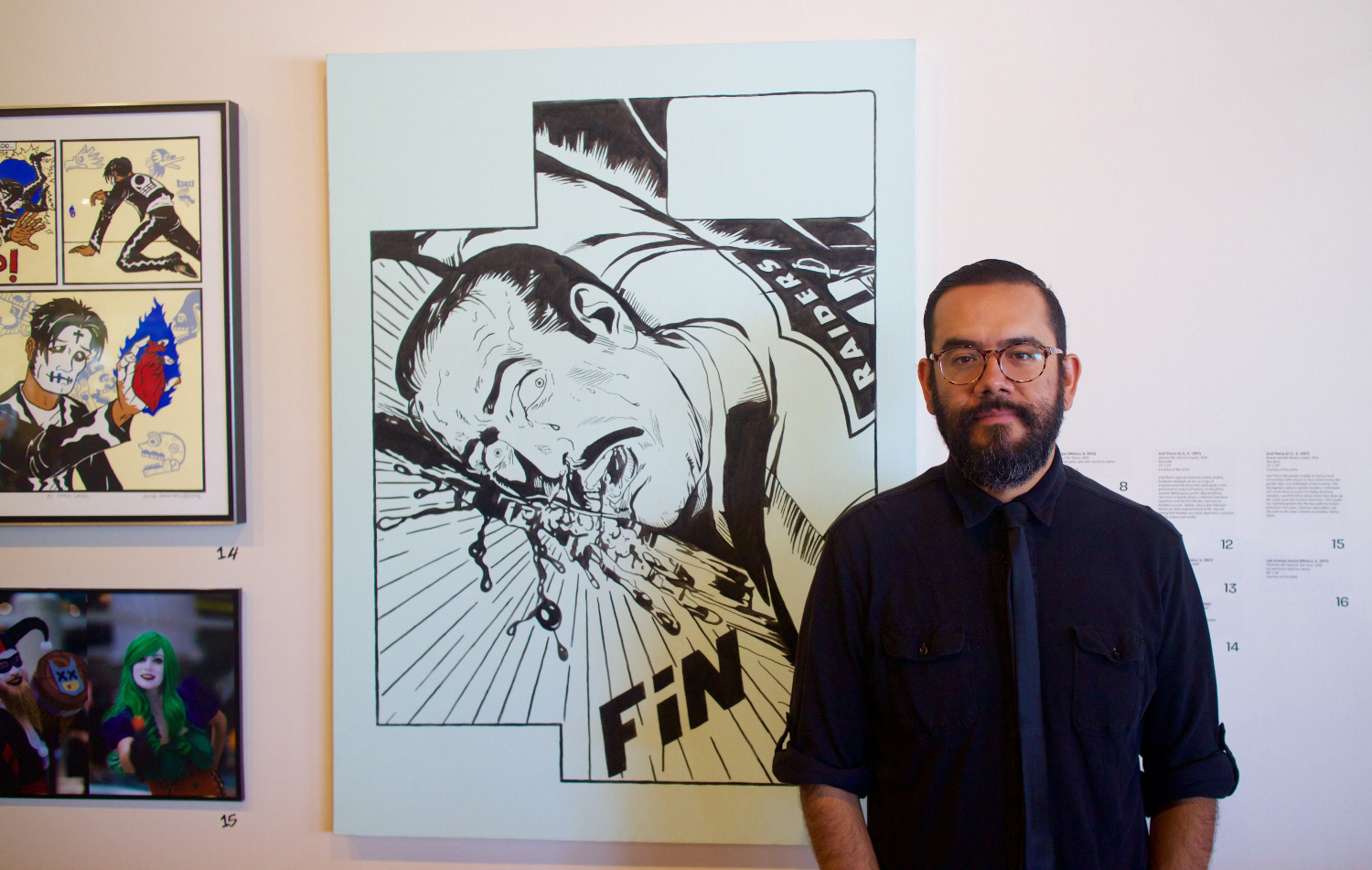 "Luis Ernesto Zavala at ""Artists Assemble"" at MOLAA"