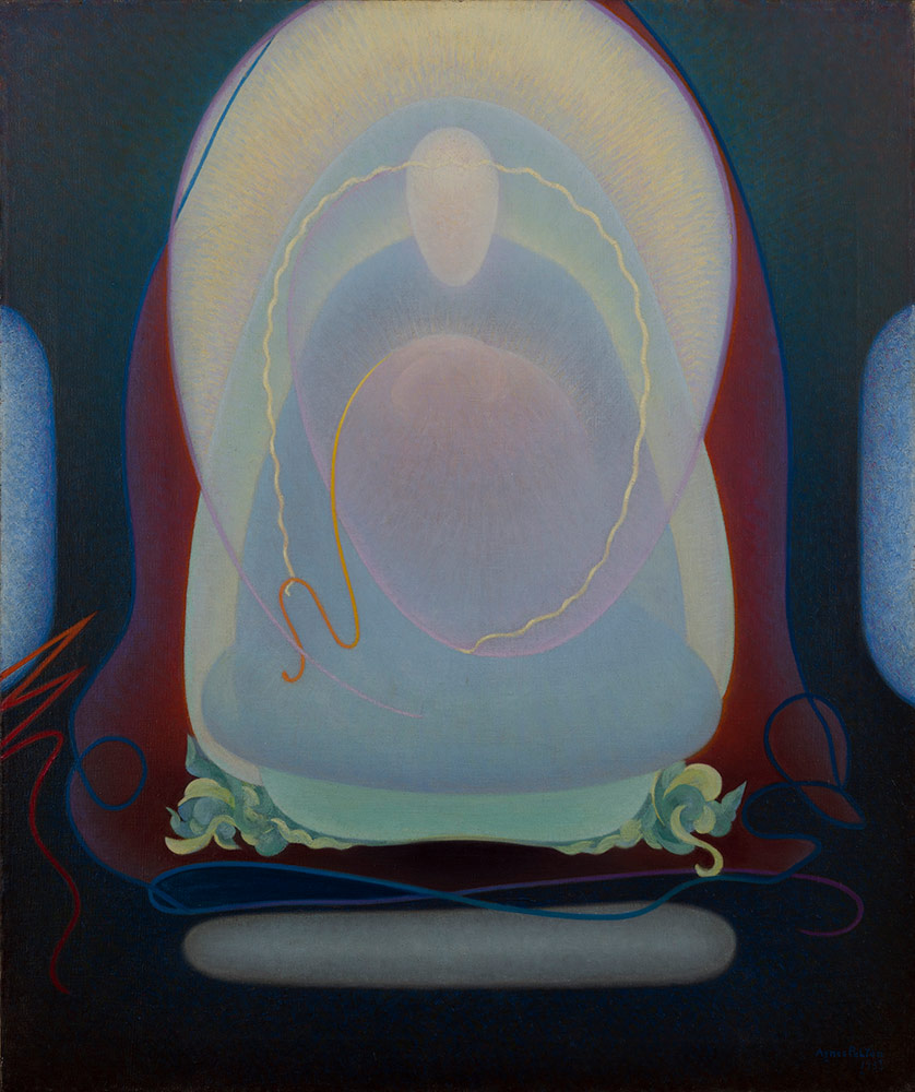 "Agnes Pelton, ""Mother of Silence,"" 1933. Oil on canvas. 