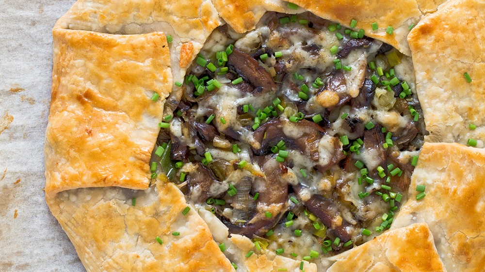 Mushroom and Gruyère Crostata