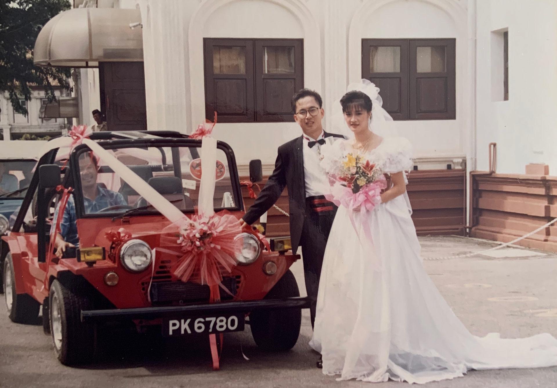Jocelyn Yow's parents at their wedding in Malaysia. | Courtesy of Jocelyn Yow