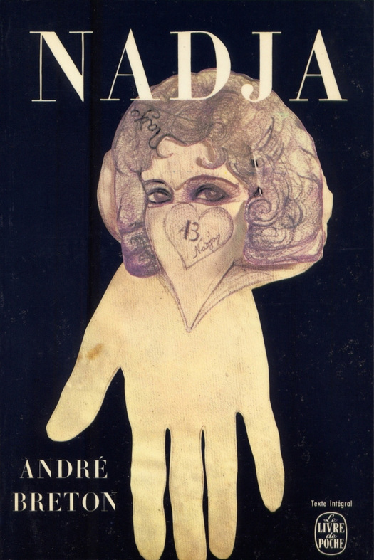 Cover of Nadja by Andre Breton, featuring a drawing by Léona Delcourt (Published by Gallimard in Le Livre de poche, 1964. Design: Pierre Faucheux) | WikiCommons