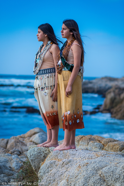 Naomi Whitehorse and Giselle Fontanelli wearing Leah Mata's creations | Courtesy of Leah Mata