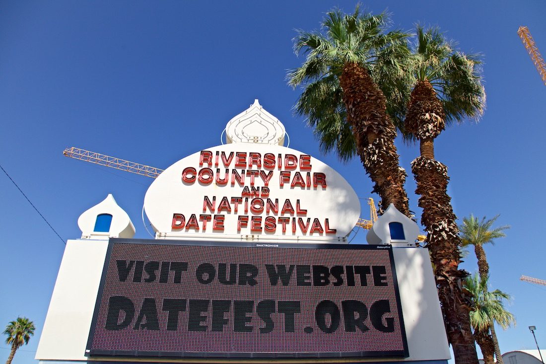 National Date Festival Sign