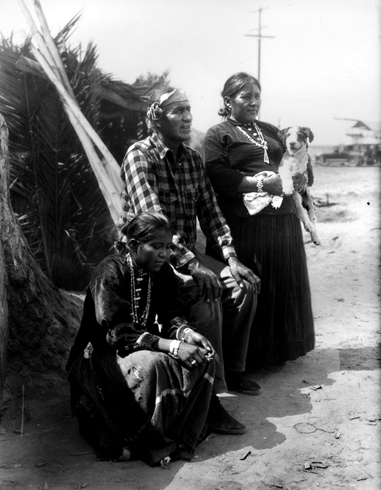 Navajos. The Bureau of Indian Affairs sent Hopi and Navajo families to Long Beach to be part of the exhibition. Photograph courtesy of Security Pacific National Bank Collection, Los Angeles Public Library