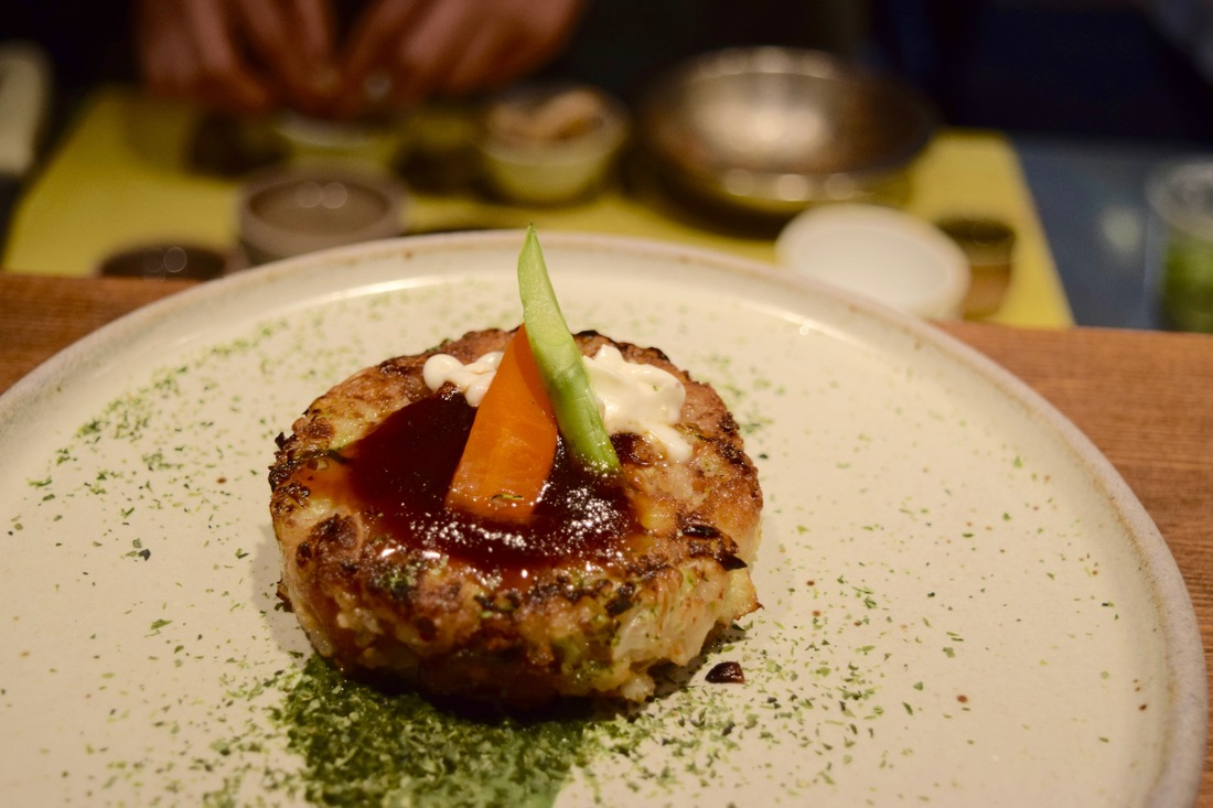 Organic tofu okonomiyaki at Necco