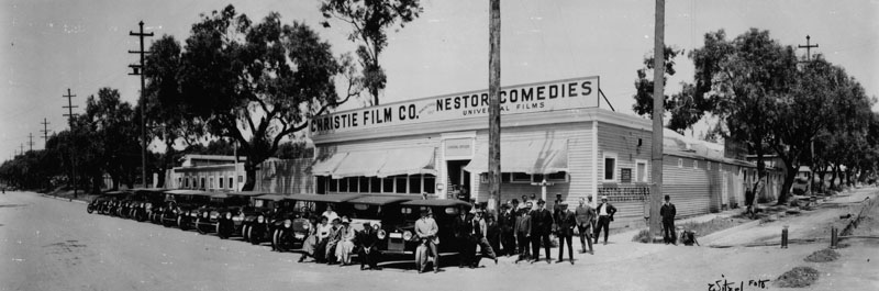 Nestor Film Company studios at Sunset and Gower, 1913