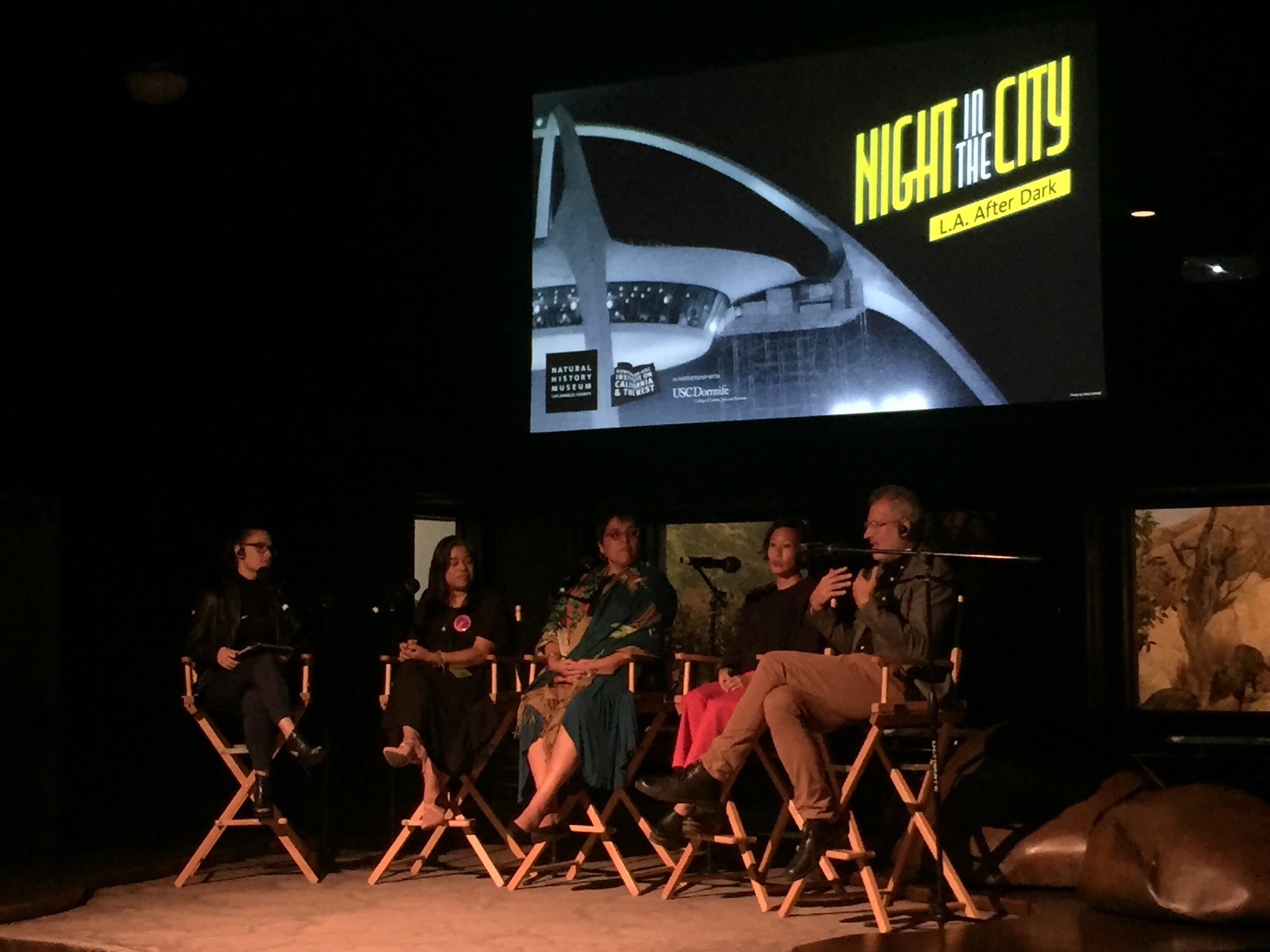 Reporter Cara Santa Maria, discussed the making of NIGHTSHIFT with film subjects Veronica Lagunas and Harriet Hayes, state labor commissioner Lillia Garcia-Brower and director David Grabias at the Natural History Museum on October 15, 2019.