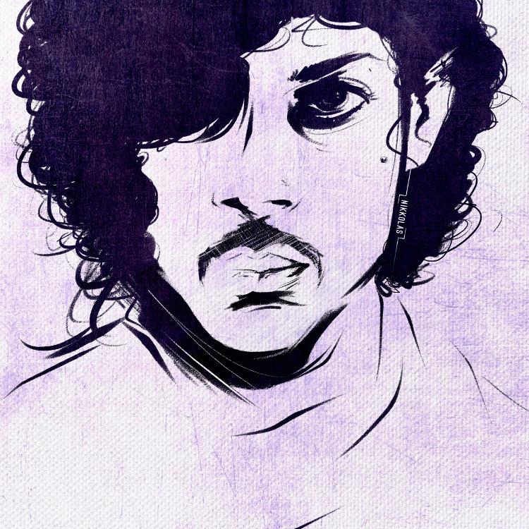 Illustration of Prince by Nikkolas Smith.