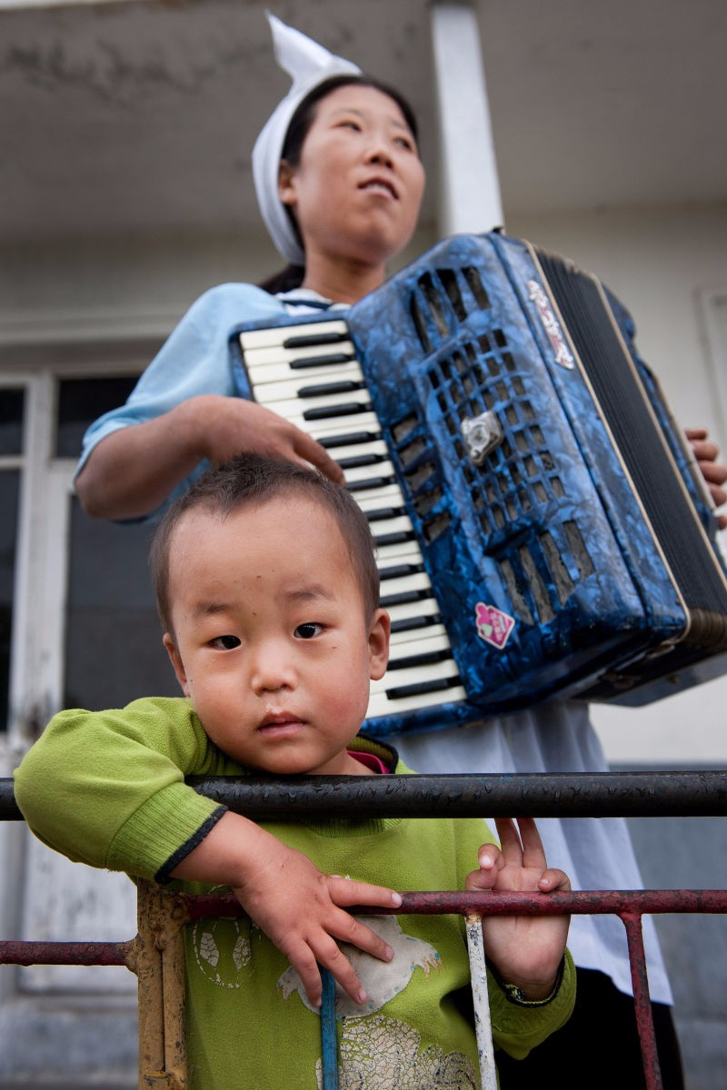 Scene at a nursery school. Kangwon Province, North Korea | Mark Edward Harris