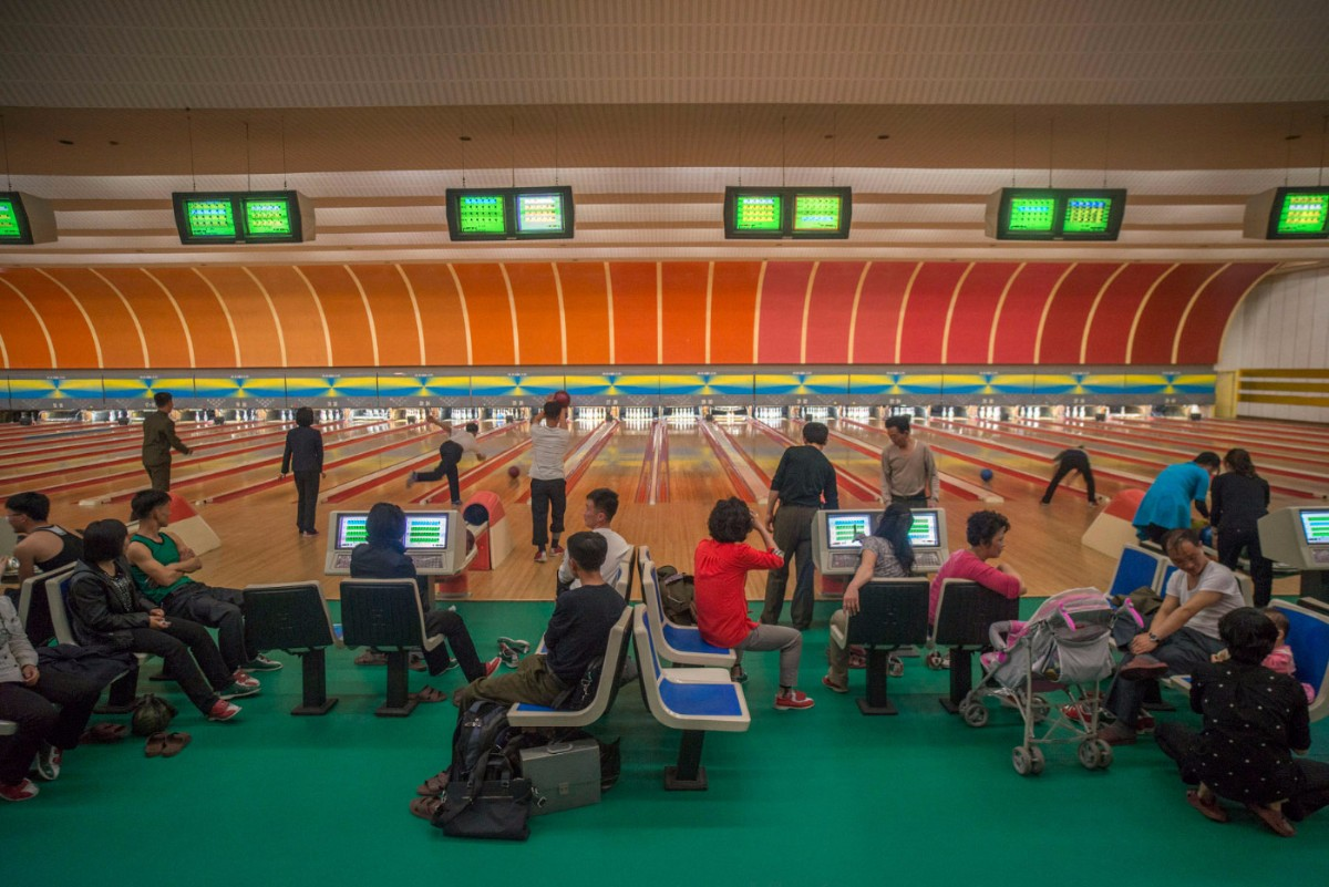 Golden Lane Bowling Alley. Pyongyang, North Korea | Mark Edward Harris