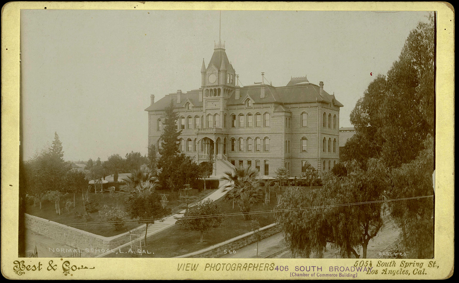 Undated photo print of the State Normal School