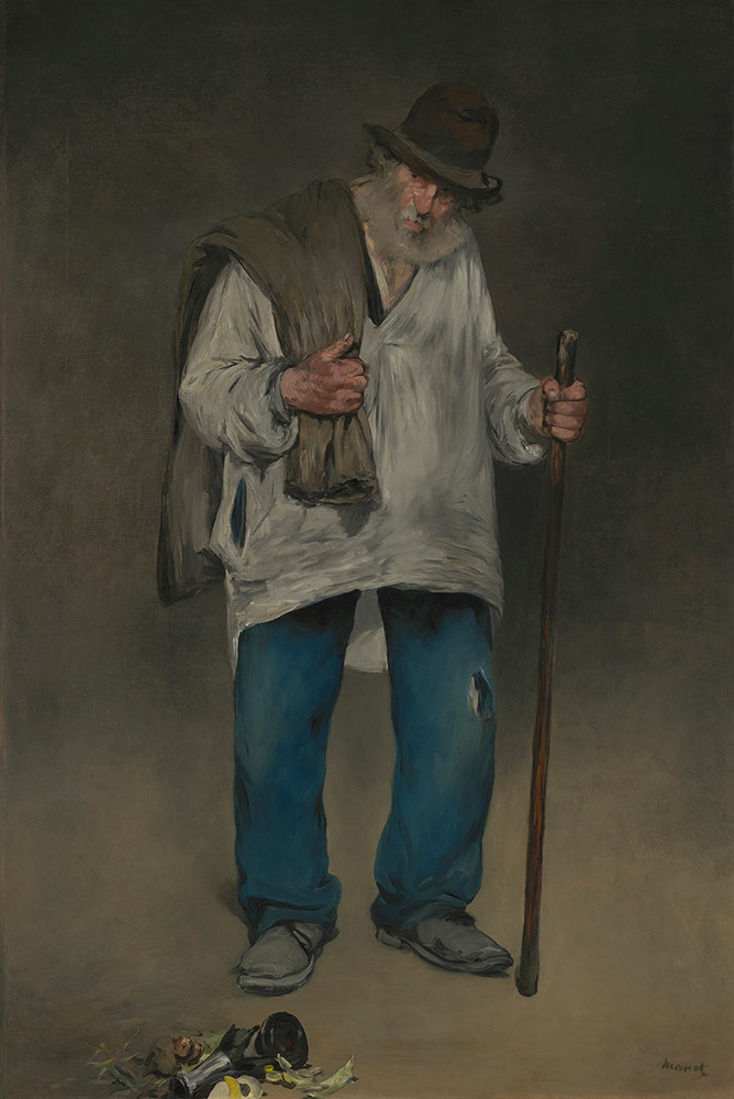 The Ragpicker by Édouard Manet (French, 1832-1883), c. 1865-1870; Oil on canvas, The Norton Simon Foundation, © The Norton Simon Foundation
