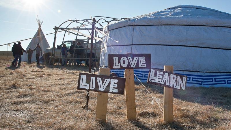 School at Oceti Sakowin Camp, Standing Rock