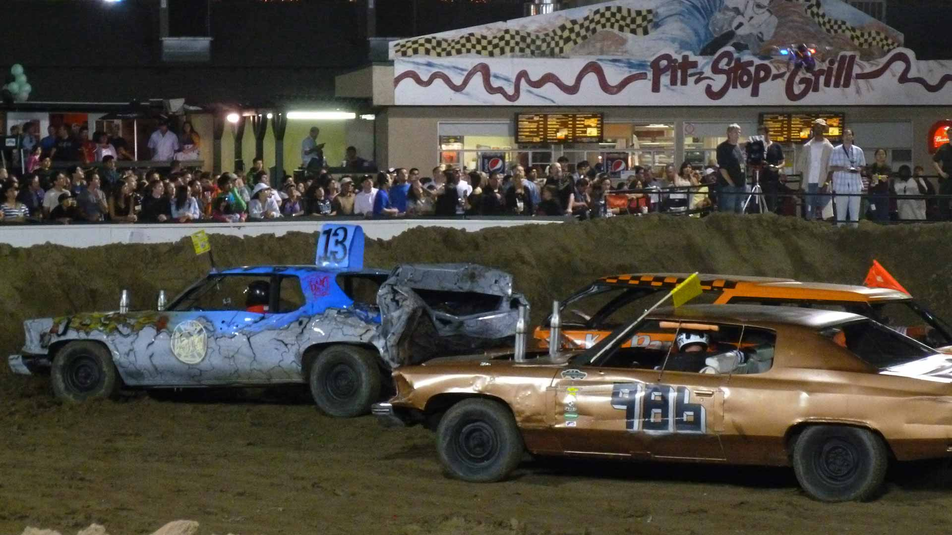 cars at the Demolition Derby