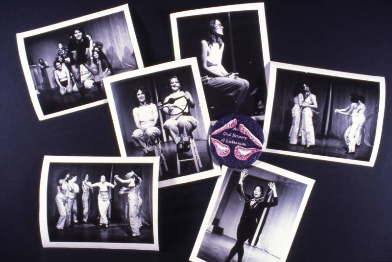 "Promotional photos from ""An Oral Herstory of Lesbianism"" directed by Terry Wolverton."