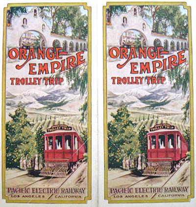 Orange Empire Trolley Trip brochure